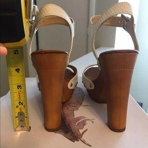 Jessica Simpson Shoes - Jessica Simpson White/Tan Block Heel, 6.